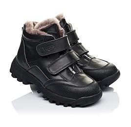 Детские зимние ботинки на меху Woopy Orthopedic черные для мальчиков натуральная кожа размер - (3235) Фото 1