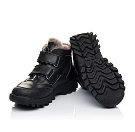 Детские зимние ботинки на меху Woopy Orthopedic черные для мальчиков натуральная кожа размер - (3235) Фото 2