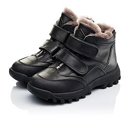 Детские зимние ботинки на меху Woopy Orthopedic черные для мальчиков натуральная кожа размер - (3235) Фото 3