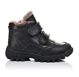 Детские зимние ботинки на меху Woopy Orthopedic черные для мальчиков натуральная кожа размер - (3235) Фото 4