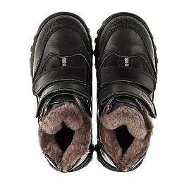 Детские зимние ботинки на меху Woopy Orthopedic черные для мальчиков натуральная кожа размер - (3235) Фото 5