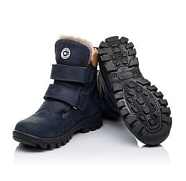 Детские зимние ботинки на меху Woopy Orthopedic темно-синие для мальчиков натуральный нубук OIL размер - (3241) Фото 2