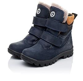 Детские зимние ботинки на меху Woopy Orthopedic темно-синие для мальчиков натуральный нубук OIL размер - (3241) Фото 3