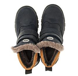 Детские зимние ботинки на меху Woopy Orthopedic темно-синие для мальчиков натуральный нубук OIL размер - (3241) Фото 5