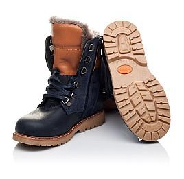 Детские зимние ботинки на меху Woopy Orthopedic темно-синие для мальчиков натуральный нубук OIL размер - (3242) Фото 2