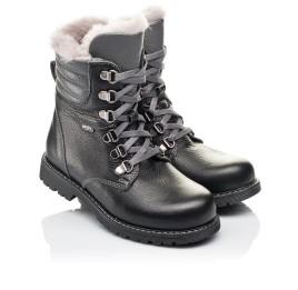 Детские зимние ботинки на меху Woopy Orthopedic черные для мальчиков натуральная кожа размер - (3243) Фото 1