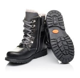 Детские зимние ботинки на меху Woopy Orthopedic черные для мальчиков натуральная кожа размер - (3243) Фото 2