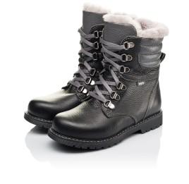 Детские зимние ботинки на меху Woopy Orthopedic черные для мальчиков натуральная кожа размер - (3243) Фото 3