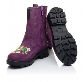 Детские зимние сапожки на меху Woopy Orthopedic фиолетовые для девочек натуральный нубук размер - (3244) Фото 2