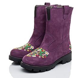 Детские зимние сапожки на меху Woopy Orthopedic фиолетовые для девочек натуральный нубук размер - (3244) Фото 3