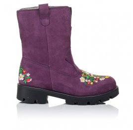 Детские зимние сапожки на меху Woopy Orthopedic фиолетовые для девочек натуральный нубук размер - (3244) Фото 4