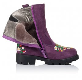 Детские зимние сапожки на меху Woopy Orthopedic фиолетовые для девочек натуральный нубук размер - (3244) Фото 5