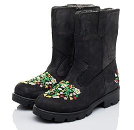 Детские зимние сапожки на меху Woopy Orthopedic черные для девочек натуральный нубук  OIL (это нубук, который в процессе производства защитили от влаги) размер - (3249) Фото 3