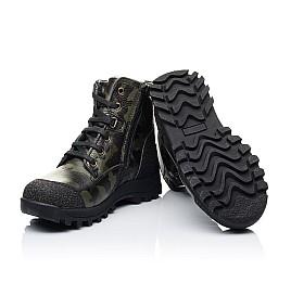 Детские зимние ботинки на меху Woopy Orthopedic зеленые для мальчиков натуральная кожа размер - (3250) Фото 2