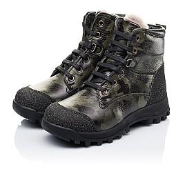 Детские зимние ботинки на меху Woopy Orthopedic зеленые для мальчиков натуральная кожа размер - (3250) Фото 3