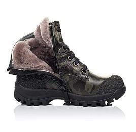 Детские зимние ботинки на меху Woopy Orthopedic зеленые для мальчиков натуральная кожа размер - (3250) Фото 5