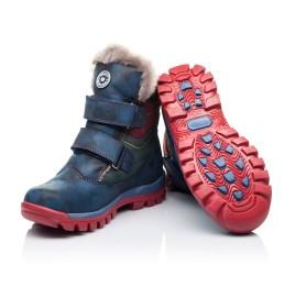 Детские зимние ботинки на меху высокие Woopy Orthopedic синие для девочек натуральная кожа размер - (3251) Фото 2