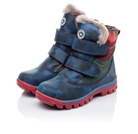 Детские зимние ботинки на меху высокие Woopy Orthopedic синие для девочек натуральная кожа размер - (3251) Фото 3