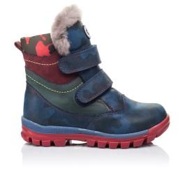 Детские зимние ботинки на меху высокие Woopy Orthopedic синие для девочек натуральная кожа размер - (3251) Фото 4