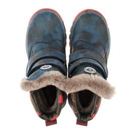 Детские зимние ботинки на меху высокие Woopy Orthopedic синие для девочек натуральная кожа размер - (3251) Фото 5