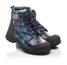 Детские зимние ботинки на меху Woopy Orthopedic синие для мальчиков натуральная кожа размер - (3252) Фото 1