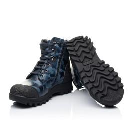 Детские зимние ботинки на меху Woopy Orthopedic синие для мальчиков натуральная кожа размер - (3252) Фото 2
