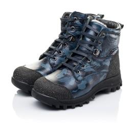 Детские зимние ботинки на меху Woopy Orthopedic синие для мальчиков натуральная кожа размер - (3252) Фото 3