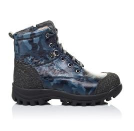 Детские зимние ботинки на меху Woopy Orthopedic синие для мальчиков натуральная кожа размер - (3252) Фото 4