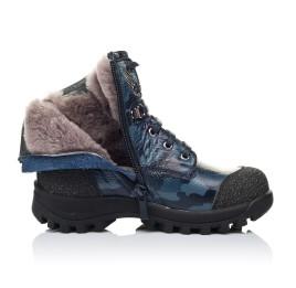 Детские зимние ботинки на меху Woopy Orthopedic синие для мальчиков натуральная кожа размер - (3252) Фото 5