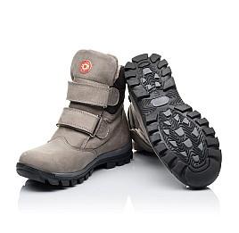 Детские зимние ботинки на меху Woopy Orthopedic серые для мальчиков натуральный нубук OIL размер - (3255) Фото 2