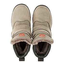 Детские зимние ботинки на меху Woopy Orthopedic серые для мальчиков натуральный нубук OIL размер - (3255) Фото 5