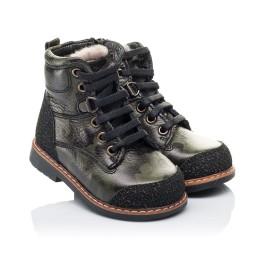 Детские зимние ботинки Woopy Orthopedic зеленые для девочек натуральная кожа размер - (3257) Фото 1