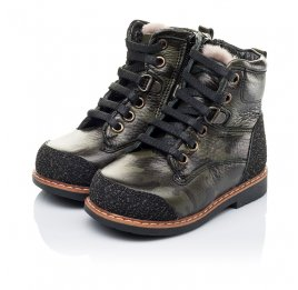 Детские зимние ботинки Woopy Orthopedic зеленые для девочек натуральная кожа размер - (3257) Фото 3