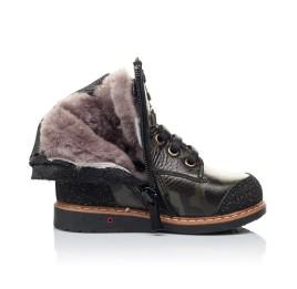 Детские зимние ботинки Woopy Orthopedic зеленые для девочек натуральная кожа размер - (3257) Фото 5