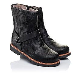 Детские зимние ботинки на меху Woopy Orthopedic черные для девочек натуральная кожа размер - (3261) Фото 1
