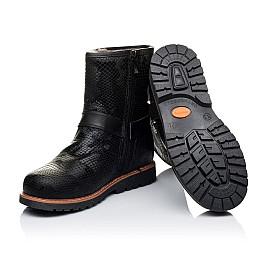 Детские зимние ботинки на меху Woopy Orthopedic черные для девочек натуральная кожа размер - (3261) Фото 2