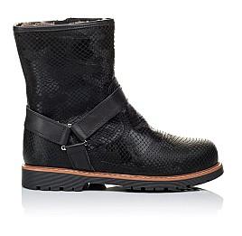 Детские зимние ботинки на меху Woopy Orthopedic черные для девочек натуральная кожа размер - (3261) Фото 4