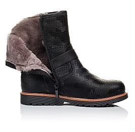 Детские зимние ботинки на меху Woopy Orthopedic черные для девочек натуральная кожа размер - (3261) Фото 5