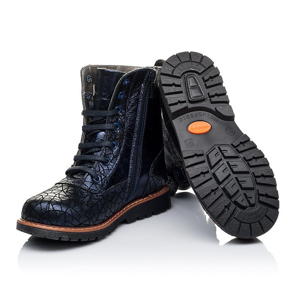 Детские демисезонные ботинки Woopy Orthopedic темно-синие для девочек натуральная кожа размер 26-33 (3262) Фото 2