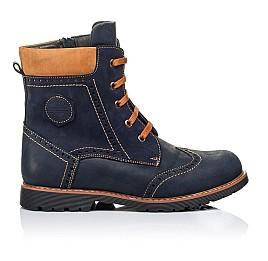 Детские зимние ботинки на меху Woopy Orthopedic темно-синие для мальчиков натуральный нубук OIL размер - (3268) Фото 4