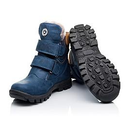 Детские зимние ботинки на меху Woopy Orthopedic синие для мальчиков натуральный нубук OIL размер - (3271) Фото 2