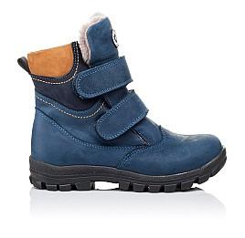 Детские зимние ботинки на меху Woopy Orthopedic синие для мальчиков натуральный нубук OIL размер - (3271) Фото 4