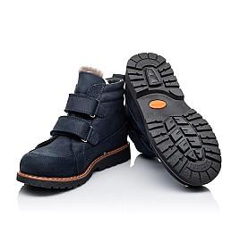 Детские зимние ботинки на меху Woopy Orthopedic синие для мальчиков натуральный нубук OIL размер - (3273) Фото 2