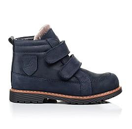 Детские зимние ботинки на меху Woopy Orthopedic синие для мальчиков натуральный нубук OIL размер - (3273) Фото 4