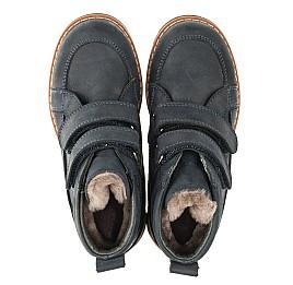 Детские зимние ботинки на меху Woopy Orthopedic синие для мальчиков натуральный нубук OIL размер - (3273) Фото 5