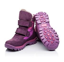 Детские зимние ботинки на меху Woopy Orthopedic фиолетовые для девочек натуральный нубук OIL размер - (3274) Фото 2