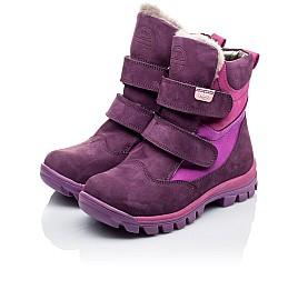 Детские зимние ботинки на меху Woopy Orthopedic фиолетовые для девочек натуральный нубук OIL размер - (3274) Фото 3
