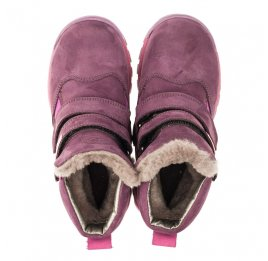Детские зимние ботинки на меху Woopy Orthopedic фиолетовые для девочек натуральный нубук OIL размер - (3274) Фото 5
