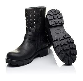 Детские зимние сапожки на меху Woopy Orthopedic черные для девочек натуральный нубук OIL размер - (3275) Фото 2