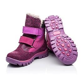 Детские зимние ботинки на меху Woopy Orthopedic розовые для девочек натуральный нубук размер - (3276) Фото 2